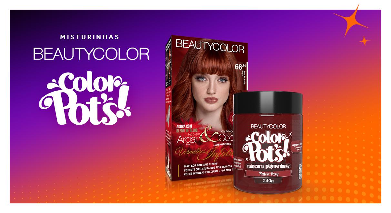 4 Color Pot's! para potencializar cabelos ruivos