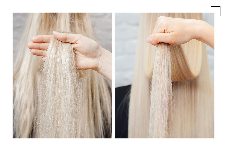 truques para lavar o cabelo loiro